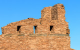 Bell tower ruins at Mission of San Gregorio de Abo in Salinas Pueblo Missions National Monument