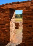 Doorway at Mission of San Gregorio de Abo in Salinas Pueblo Missions National Monument