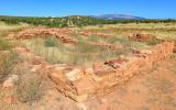 Ruins outside Mission of San Gregorio de Abo in Salinas Pueblo Missions National Monument