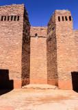 Church altar area in Quarai in Salinas Pueblo Missions National Monument
