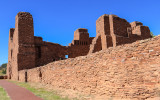 Convento wall of Quarai in Salinas Pueblo Missions National Monument
