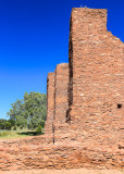 Outside walls of Quarai ruins in Salinas Pueblo Missions National Monument
