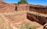 Square kiva in the convento in Quarai in Salinas Pueblo Missions National Monument