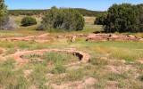 Kiva and ruins behind the Quarai convento in Salinas Pueblo Missions National Monument