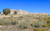 Gran Quivira Ruins on a hill in Salinas Pueblo Missions National Monument