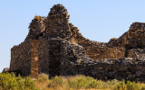 Late afternoon sun on the Gran Quivira ruins in Salinas Pueblo Missions National Monument