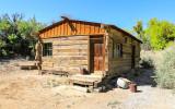 Railroad tie cabin built in the 1920's in Desert National Wildlife Refuge