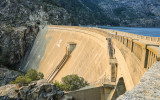 The O'Shaughnessy Dam and the Hetch Hetchy Reservoir in Yosemite National Park