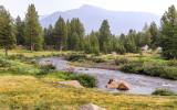 The Dana Fork of the Tuolumne River along the Tioga Road in Yosemite National Park