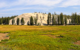 Pothole Dome on the edge of the Tuolumne Meadows along the Tioga Road in Yosemite National Park