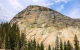 Large granite Dome along the Tioga Road in Yosemite National Park