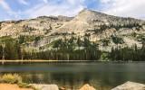 Tenaya Peak viewed over Tenaya Lake along the Tioga Road in Yosemite National Park