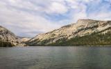 View over Tenaya Lake along the Tioga Road in Yosemite National Park