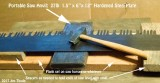 Light weight portable saw anvil