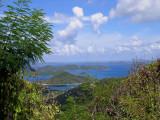 The highest point on St. John.