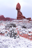 Balancing Rock In the Snow