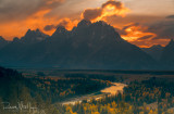 A spectacular sunset from the Snake River Overlook