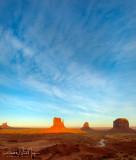 Monument Valley Moonrise Cloudscape