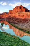 Sunrise light on Colorado River
