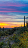 Sunset near Superior, AZ