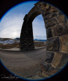 Unusual view of the Roosevelt Arch