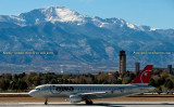 2007 - Northwest Airlines Airbus A-320 N344NW with Pike's Peak in the background