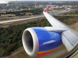 2017 - takeoff on Southwest Airlines B737 on runway 19R at Tampa International Airport