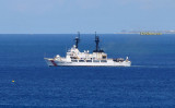 August 2010 - U. S. Coast Guard Cutter MELLON (WHEC-717) going out on patrol from CG Base Sand Island, Honolulu