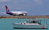 2010 - Hawaiian Airlines B767-332 N594HA taxiing out to the reef runway at Honolulu International Airport