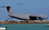 2010 - Tennessee Air National Guard C-5A Galaxy #70-0454 taxiing out to the reef runway at Honolulu International Airport