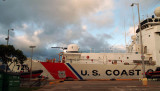 2009 - USCGC JARVIS (WHEC-725) docked at Coast Guard Base Honolulu on Sand Island