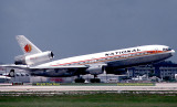July 1978 - National Airlines DC10-10 N70NA rotating from 9L at Miami International Airport aviation airline photo