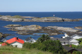 Lighthouse & dreaded waters of coastline of Hustadvika. Gorgeous land to get there.