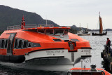 Next day was LEKNES, in the Lofoten Islands. The new Viking Sky was in town at the dock; we had to tender
