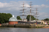 After an extremely long ride (Blackberry Cars - but not their fault) from Heathrow we made it  to Greenwich Pier