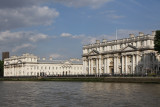 Greenwich is a World Heritage Site. Here's the Old Royal Naval College from the water