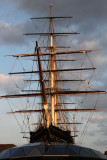Cutty Sark was looking pretty impressive in the late evening light