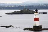 Oxcars lighthouse & ruins in the Firth of Forth