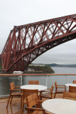 It was not a good day for sitting outside under the Forth railroad bridge