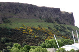 At the Holyroodhouse stop, I walked out to the street & found a view of the Salisbury Crags & Dynamic Earth.