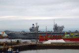 Howard noticed the two new aircraft carriers in Rosyth harbor.