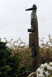 Chief Kyan Totem in park near Creek Street.