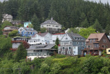 Typical Ketchikan houses on the hillside