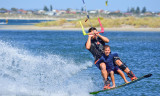 Kite-boarding at The Pond, Safety Bay