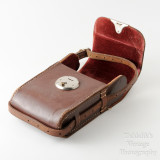 03 Vintage Brown Leather Case for Folding Camera - Hand Sewn Made in England.jpg