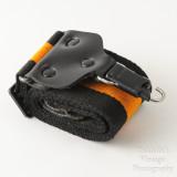 08 Vintage Kaiser Wide Camera Strap Orange and Black Strip with Locking Strap Lugs.jpg