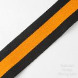 03 Vintage Kaiser Wide Camera Strap Orange and Black Strip with Locking Strap Lugs.jpg
