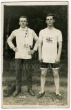 1 Winner of The Long Jump Grenadier Guards 2 Edwardian Men Unposted RPPC Photo.jpg