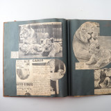 09 2 Vintage 1937 Scrap Books Albums with Stickers Animal Dogs Cats Useless Eustace.jpg