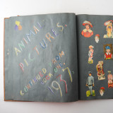 08 2 Vintage 1937 Scrap Books Albums with Stickers Animal Dogs Cats Useless Eustace.jpg